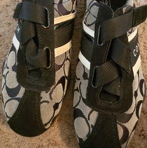 Black Coach shoes sz6.5